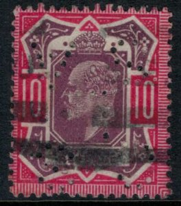 Great Britain #137 perfin  CV $70.00