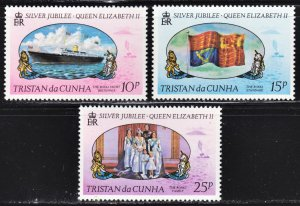 Tristan da Cunha Scott 213-15 complete set F to VF mint OG NH.