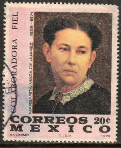 MEXICO 1043, Benito Juarez Death Centennial(his wife). Used. VF. (139)