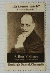 Vollmer Candy & Sweets Rudolph Chemnitz German Brand Poster Stamp