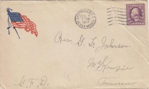 1917, AEF: Flag Patriotic Cover, Greenville, SC (M1596)