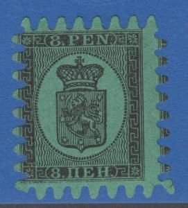 FINLAND 7 8 PEN 1866 MINT FULL OG VERY VERY SMALL THIN EXTRA FINE