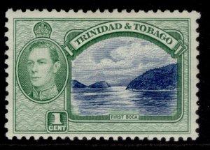 TRINIDAD & TOBAGO GVI SG246, 1c blue & green, M MINT.