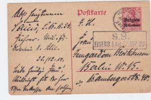 german belgium occupation field post  stamps card ref r15462