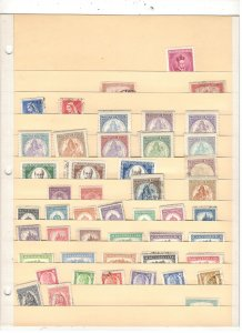 HUNGARY COLLECTION ON STOCK SHEET,