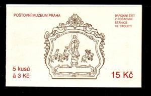 Czech Rep Sc 2891 Brno Museum Cover stamp booklet mint NH