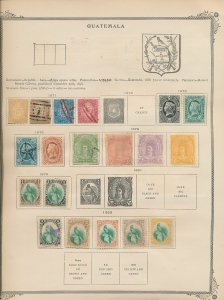 Guatemala 1871/98 M&U On Old Pages (50+Items) (W1110