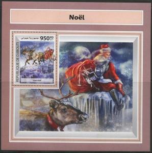 Dschibuti 2017 Weihnachten Souvenir Blatt Neuwertig Nh