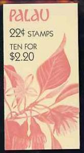 Booklet - Palau 1987 Flowers $2.20 booklet complete and v...