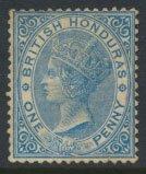 British Honduras SG 17 SC # 13 Used blue wmk Crown CA see scans and details