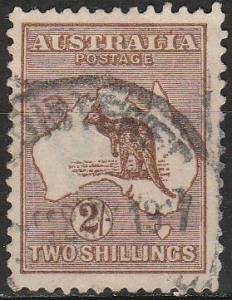 Australia #52  F-VF Used CV $27.50 (A17577)