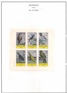 SCOTLAND - BERNERA - 1982 - Birds (37) - 6v Imperf Sheet - MLH