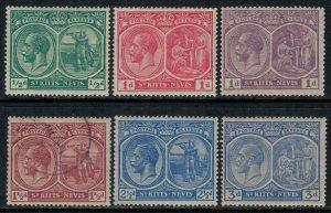 St. Kitts-Nevis #37-9,41,3a-5*/u  CV $14.45