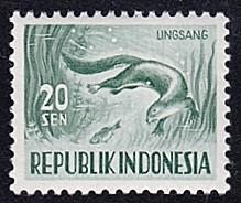 Indonesia # 427 hinged ~ 20s Otter
