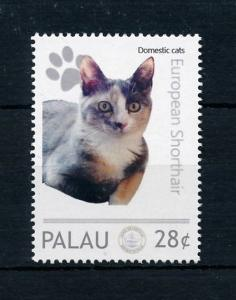 [78321] Palau  Pets Domestic Cats European Shorthair  MNH