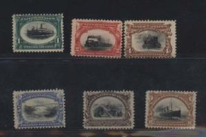 USA #294 - #299 VF/NH Perfect Gum Set