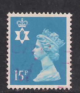 Northern Ireland GB 1989 QE2 15p Bright Blue SG NI 40 ( K65 )