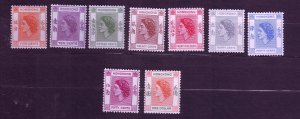 J23681 JLstamps various 1954-60 from set hong kong mlh/mh #185-up queens