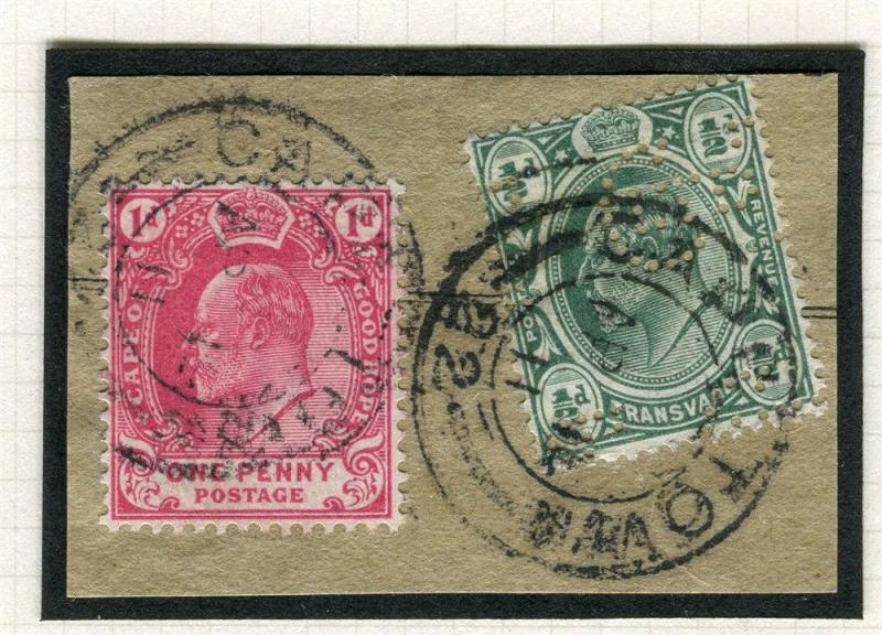 TRANSVAAL Interprovincial Period Ed VII CAPE TOWN Postmark on 1d. Piece