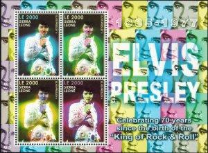 Sierra Leone MNH S/S Elvis Presley 70th Birthday