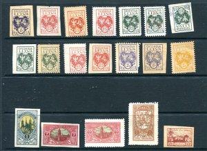 Lithuania Mittellitauen 1921 Accumulation MH perf Imperf 8684