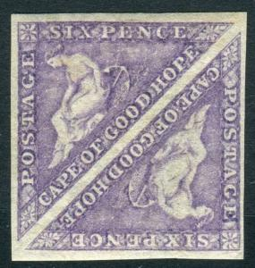 CAPE OF GOOD HOPE-1863-4 6d Bright Mauve superb lightly mounted mint pair Sg 20