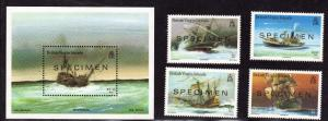 $Virgin Islands Sc# AS 572-6 M/NH/VF, complete set, w/Specimen o/p, Cv. $37