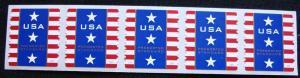 US #4157 MNH PNC/5 #V111, Patriotic Banner SCV $2.50