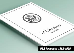 PRINTED U.S. REVENUES 1862-1995 STAMP ALBUM PAGES (297 pages)