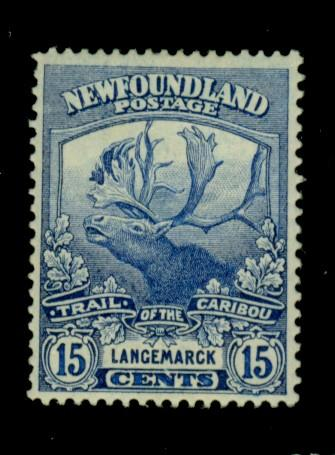 Newfoundland #124 MINT FVF OG HR Cat$42.50