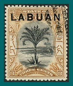 Labuan 1897 Palm Tree, p 14, cancelled  #75,SG91