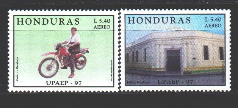 Honduras. 1998. 1407-8. Motorcycle America. MNH.