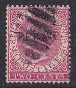 MALAYA - STATES Perak : 1884 QV 2c ERROR FERAK PHOTO CERTIFICATE
