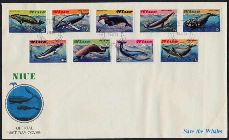 Niue 380-8 on FDC - Save the Whale Campaign