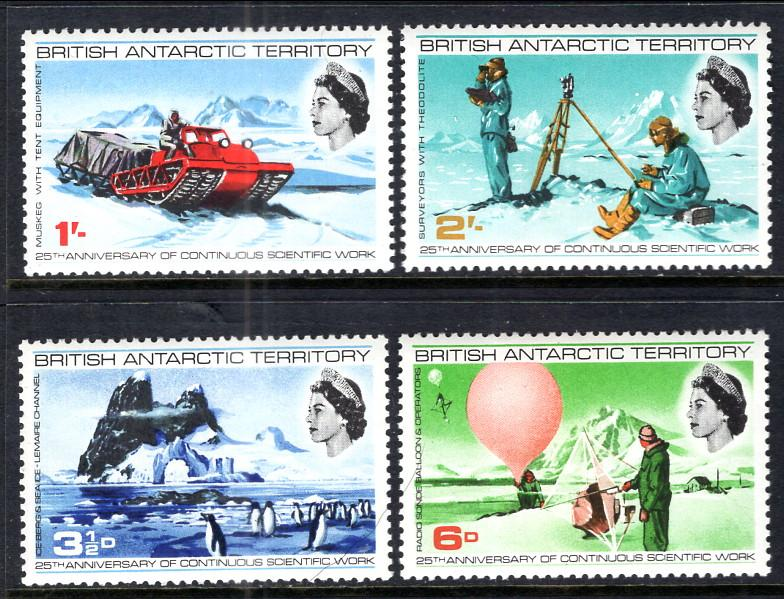 British Antarctic Territory 20-23 MNH VF