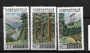 REPUBLIC OF CHINA, 1267-1269, MNH, REFORESTATION