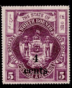 North Borneo Scott 134 Surcharged 1904 stamp