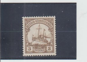 German South West Africa  Scott#  13  MH  (1901 Hohenzollern)