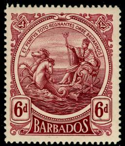 BARBADOS SG188, 6d purple, M MINT. Cat £11.