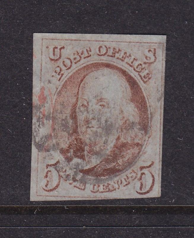 1 F-VF used neat cancel with nice color cv $ 400 ! see pic !