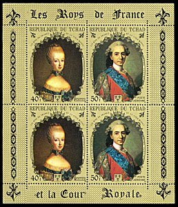Chad 232C, MNH, Marie Antoinette and Louis XVI miniature sheet