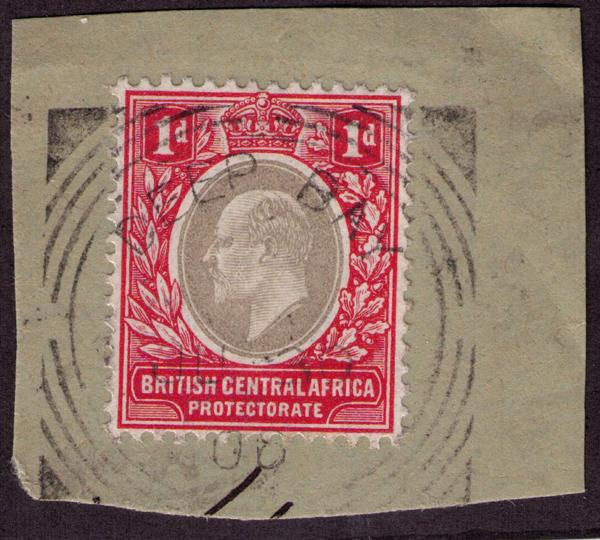 British Central Africa #  60  Used VF Deep Bay Cat $ 2.25+++