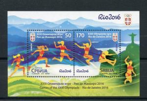 Serbia 2016 MNH Olympic Games Rio 2016 2v M/S Athletics Olympics Stamps