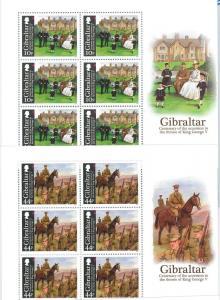 64448 -  GIBRALTAR - STAMPS - 2010 ROYALTY: King George V  MINIATURE SHEETS