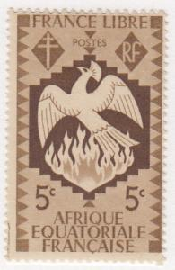 French Equatorial Africa, Scott #142 (3), MH