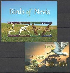 K1199 2010 NEVIS FAUNA BIRDS OF NEVIS 1BL+1KB MNH