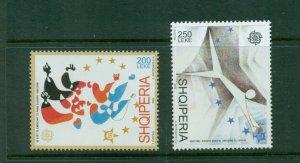 Albania #2761-62 (2005 Europa set) VFMNH CV $10.00