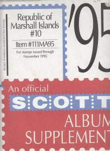 Scott Album Supplement Republic of Marshall Islands #10 Through Nov 1955