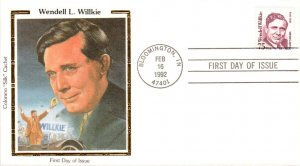 #2192 Wendell Willkie Colorano FDC