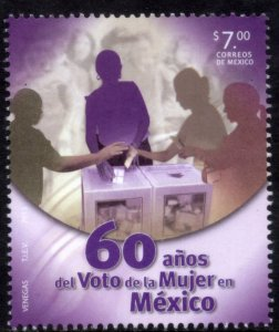 MEXICO 2834, WOMEN SUFFRAGE, 60th ANNIVERSARY. MINT NH VF.